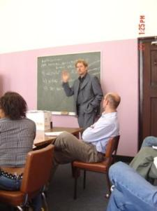 Lecturing at Oxford University
